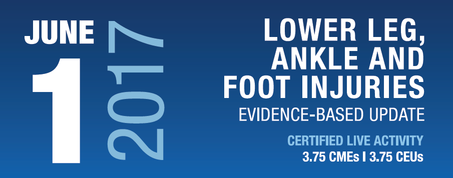 Lower Leg, Ankle and Foot Injuries: An Evidence-Based Update