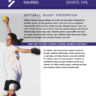 Tips on Softball Injury Prevention