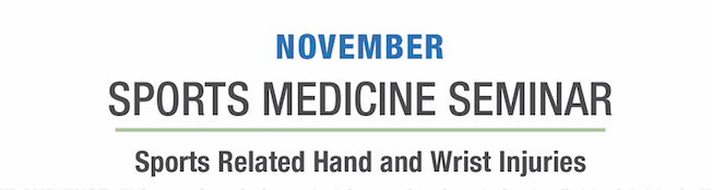 Sports Medicine Seminar: A Hands-On Approach to Hand Therapy and Splinting