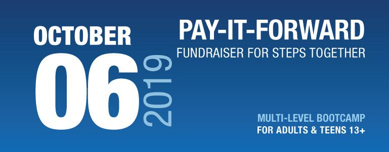 Pay-it-forward fundraiser event October 6, 2019: multi-level bootcamp