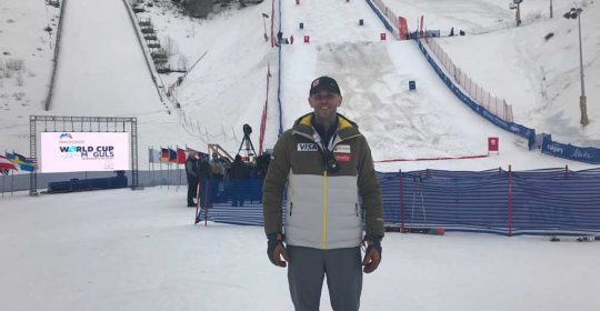 UOA's Dr. Patrick Buckley Accompanies U.S. Moguls Ski Team to Calgary for World Cup Event