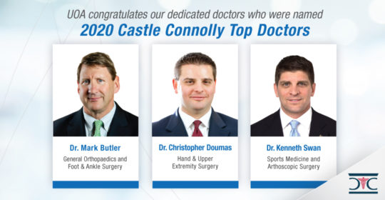UOA Surgeons Recognized for 2020 Castle Connolly Top Doctors Award